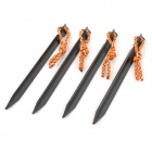 Outdoor Thickened Camping Tent Aluminum Alloy Ground Nail Stake - Black (4pcs)