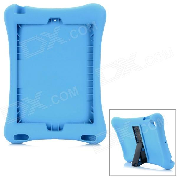 Anti-Shock Protective Silicone Back Case w/ Stand for IPAD AIR - Blue anti shock protective silicone back case w stand for ipad air blue