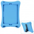 Anti-Shock Protective Silicone Back Case w/ Stand for IPAD AIR - Blue