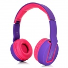 Bingle i681 Fold-up 3.5mm Wired / Wireless Headband Headphone w/ Microphone - Purple + Deep Pink