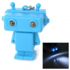 Robot Style Keychain w/ White LED Light + Sound Effect - Blue (3 x AG10)