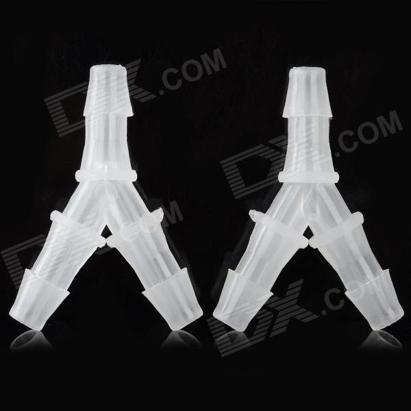 Y-2 DIY Plastic Y Shaped Connector Three-way Pipe for R/C Toy - Transparent (2 PCS)