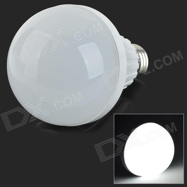 E27 12W 900lm 6500K 42-SMD 2835 LED White Light Bulb - White + Silvery Grey (AC 220~240V)