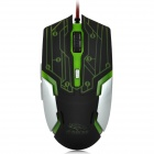 R.horse USB 2.0 1000 / 1600 / 2400 / 3200dpi Wired Gaming Mouse w/ Colorful Light