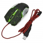 R.horse USB 2.0 1000/1600 / 2400/3200 dpi Wired Gaming Mouse m / Fargerike Lys