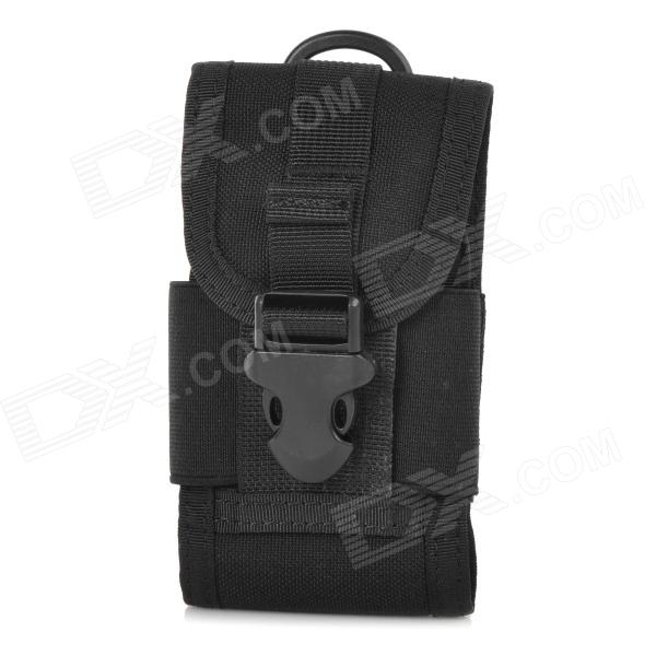 Outdoor Multifunctional Protective Tactical Cordura Waist Bag for Cellphone - Black