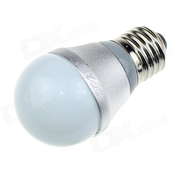 DP DP-QP3W01 E27 3W 250lm 6500K 6-SMD 5630 LED White Light Bulb - White + Silver (AC90 ~240V)