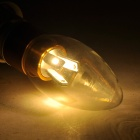 LZ-2002 E14 3W 270lm 3000K 6-SMD 5730 LED Warm White Candle Bulb - Golden (AC 85~265V)