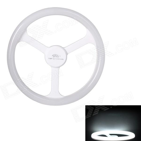JoYda H18wh E27 18W 2000lm 6500K 80-SMD 2835 LED White Light Steering Wheel Lamp - White (AC 220V) joyda h12nu e27 12w 1500lm 4100k 60 smd 2835 led white light steering wheel lamp white ac 220v