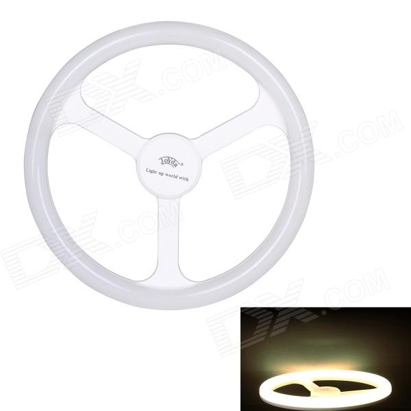JoYda H18nu E27 18W 2000lm 4100K 80-SMD 2835 LED White Light Steering Wheel Lamp - White (AC 220V) joyda h12nu e27 12w 1500lm 4100k 60 smd 2835 led white light steering wheel lamp white ac 220v