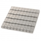 RJ45 Shielded Network Cable Connectors - Silver (50 PCS)