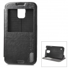 USAMS S01 Protective Flip-open PU Case for Samsung Galaxy S5 - Black