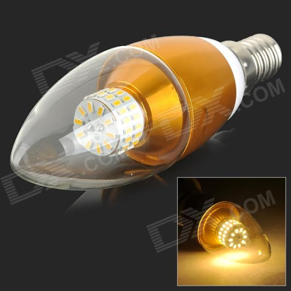 XUNRUIXING LZ-2016 E14 6W 470lm 3000K 50-SMD 3014 LED Warm White Candle Bulb - Golden (AC 85~265V)