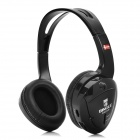 Bingle B-610-W 3.5mm Wired / Wireless Headband Headphone w/ Mic. / FM + Transmitter - Black