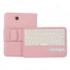 EPGATE Wireless Bluetooth V3.0 Keyboard + Protective PU Leather Case for Samsung Tab4 T230 - Pink