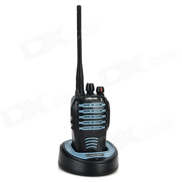 Chierda CD-528 Waterproof 16-Channel 400~470MHz Walkie Talkie - Black + Blue