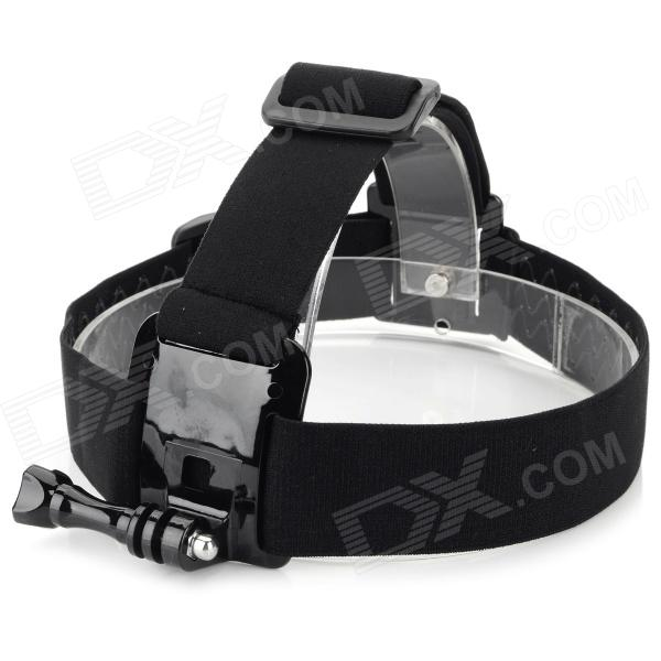 Multi-Function Head Band + Fixing Screw for GoPro 1 / 2 / 3 / 3+ - Black