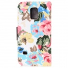 Protective Flower Cloth Flip-open Case for Samsung Galaxy S5 Mini