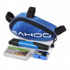 SAHOO Bike Mounted Bag + Inflator Pump + Tire Repair Toolkit + Multi-Functional Tool Set