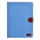 Stylish Flip Open Case w/ Stand / Card Slots for 10.5'' Samsung Galaxy Tab S T800 - Sky Blue + Brown