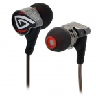OSTRY KC06 3.5mm  In-Ear Earphone w/ Earhooks - Black + Red