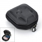 TMC Protective Double Zipper Camera Storage Bag for GoPro HD Hero 3+ / 3 / 2 / SJ4000 - Black (S)