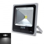 50W 4500lm 6000K 1-LED White Light Floodlight - Grey + Black (90~240V)