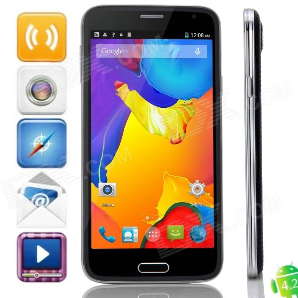 S5 MTK6592 Octa-Core Android 4.4.2 WCDMA Bar Phone w/ 5.0 IPS QHD, 8GB ROM, GPS, OTG - Black s5 mtk6592 octa core android 4 4 2 wcdma bar phone w 5 0 ips qhd 8gb rom gps otg white