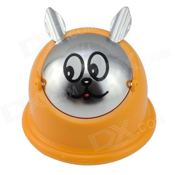 JZ320 Cartoon Style Plastic + Stainless Steel Ashtray - Yellow + Silver