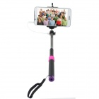 Universal 3.5mm Plug Selfie Monopod w/ Remote Controller for iOS and Android -  Black + Red
