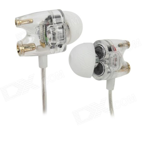 TTPOD T1 3.5mm Plug In-Ear Earphone - Translucent White free shipping pair copper colour whisper hifi interconnect cable with gold plated xlr plug
