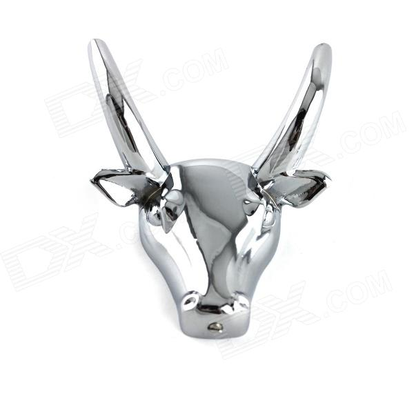YDL-JD-909 Stainless Steel Cow Head Shaped Bathroom Clothes Hook - Silver