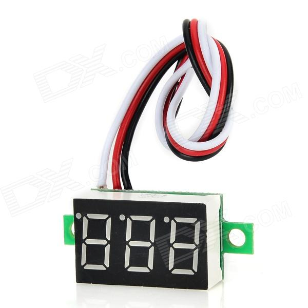 DSN-DVM-368L-3 3-Digit 0.36 LED Digital DC Voltmeter for Motorcycle - Black + White 4 digit red led digital amperemeter black dc 5v