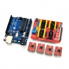 Carte d'extension FR4 Funduino 0073 3 + 4-Stepper Motor Drives + R3 Funduino-UNO bord Kit pour Arduino