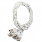 DIY 4-Core USB Data / Charging Cables w/ Shielding Layer - White (5 PCS / 100cm)