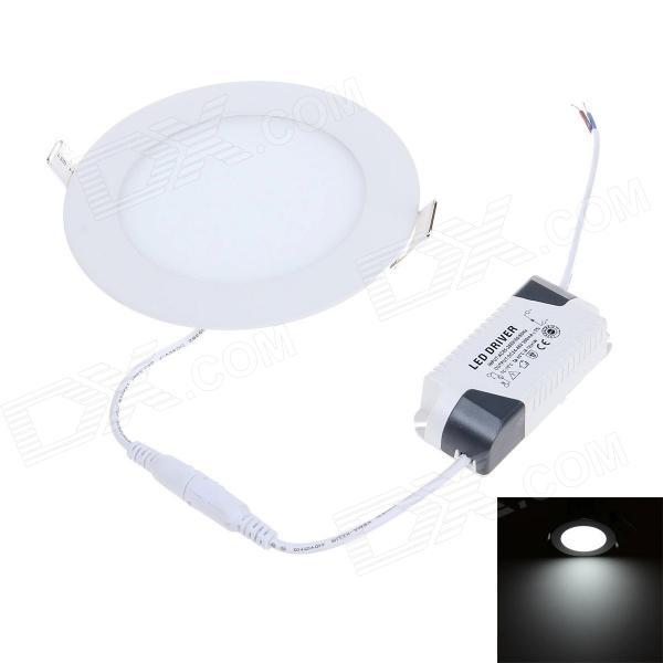 9W 720lm 6000K LED White Light Round Panel Lamp - White (AC 90~265V) cartoon kids light led beside toys kids pendant light lamp kids room night light for children bedroom hanging head lamp