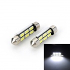Marsing Decoded Festoon 39mm 4W 200lm 6500K LED White Light Car Reading/License Bulbs(2 PCS)