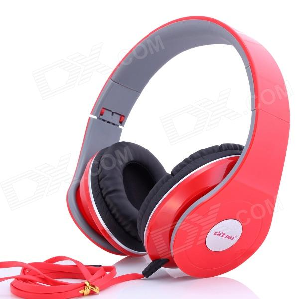 Ditmo DM-2600 3.5mm Adjustable Foldable Headband Noise Canceling Stereo Headphone - Red audio technica ath ls50is 15119537 внутриканальные наушники red