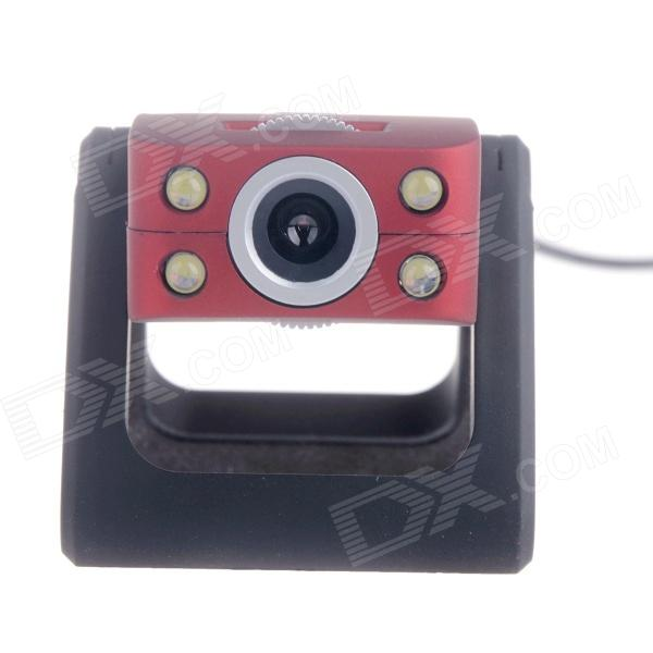 RAYANTS C-009 Free-Drive 12.0MP HD Webcam with Night Vision / Micphone - Red + Black