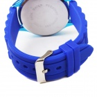 WOMAGE Y43 Quartz analogique à la mode montre-bracelet w / bande de Silicone bleu - bleu