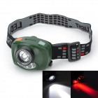 Pange Infrared Induction 230lm 3-Mode White + Red Light Headlamp w/ Cree XP-E Q5 (3 x AAA)