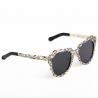 OREKA Stylish Skeleton Frame UV400 Sunglasses - Black + Golden