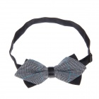 Men's Simple Fashionable Dacron Bow Tie Necktie - Black + Gray