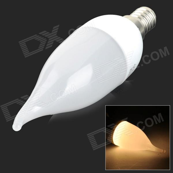 YouOKLight E14 3W 8-SMD 2835 LED Warm White Light Bulb Candle Lamp -White (AC 220V)