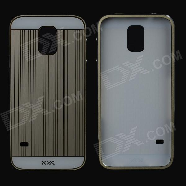 Protective Aluminum Alloy Bumper Frame w/ PC Back Cover for Samsung Galaxy S5 - Champagne Golden
