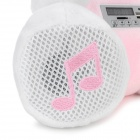 Cute Rabbit 3W Bluetooth 2.1-CH Speaker w/ TF / Remote Control - White + Pink