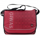 OIWAS Casual Opening Cover Square Nylon Messenger Bag - Red