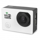 "Water Resistant FPV HD 2.0"" LTPS CCD Wide Angle Sports DV Camera w/ Wi-Fi - White + Black"