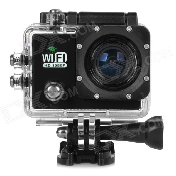 Water Resistant FPV HD 2.0 LTPS CCD Wide Angle Sports DV Camera w/ Wi-Fi - Black cheerson cx 20 cx20 rc quadcopter original parts sports hd dv camera 12 0mp