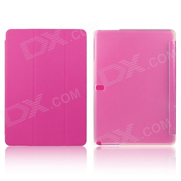 ENKAY Three-Fold Protective PU Flip Open Case for Samsung Galaxy Tab Pro 10.1 T520 - Deep Pink luxury flip stand case for samsung galaxy tab 3 10 1 p5200 p5210 p5220 tablet 10 1 inch pu leather protective cover for tab3
